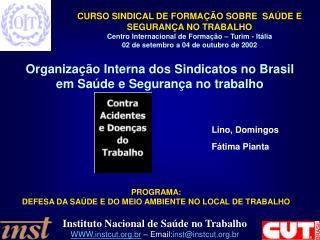 Organização Interna dos Sindicatos no Brasil em Saúde e Segurança no trabalho Lino, Domingos