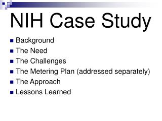 NIH Case Study