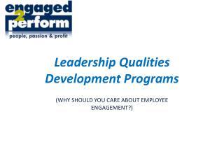 Leadership Qualities Development Programs
