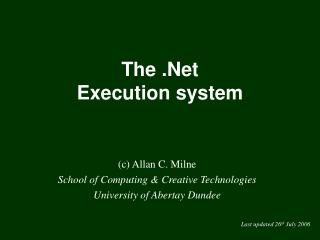 The .Net Execution system