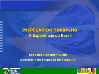 INSPEÇÃO DO TRABALHO A Experiência do Brasil