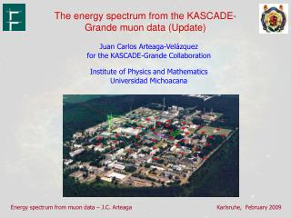 The energy spectrum from the KASCADE-Grande muon data (Update)