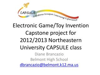 Diane Brancazio Belmont High School dbrancazio@belmont.k12.ma