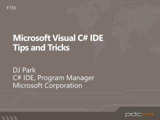 Microsoft Visual C# IDE  Tips and Tricks