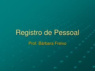 Registro de Pessoal