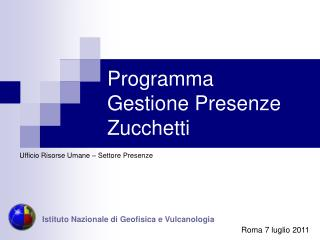 Programma Gestione Presenze Zucchetti