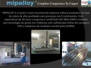 Placas em cobre para moldes para máquinas de lingotamento continuo