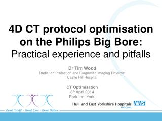 4D CT protocol optimisation on the Philips Big Bore: Practical experience and pitfalls