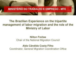 Nilton Freitas Chair of the National Migration Council