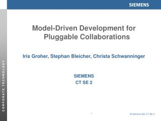 Model-Driven Development for Pluggable Collaborations
