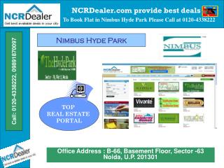 Affordable flats in Nimbus Hyde Park at Sector 78 Noida