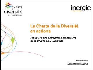 La Charte de la Diversit   en actions