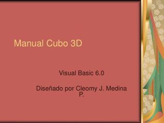 Manual Cubo 3D