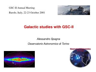 Galactic studies with GSC-II
