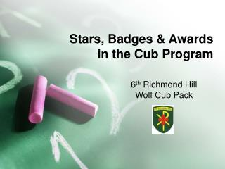 Stars, Badges & Awards in the Cub Program