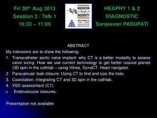 HEAPHY 1 & 2 DIAGNOSTIC Sanjeevan  PASUPATI