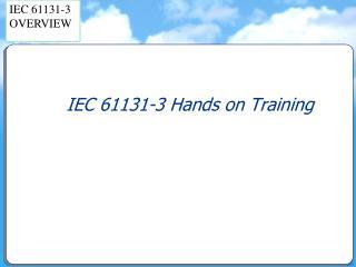 IEC 61131-3 Hands on Training