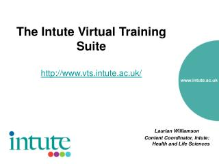 The Intute Virtual Training Suite   vtstute.ac.uk