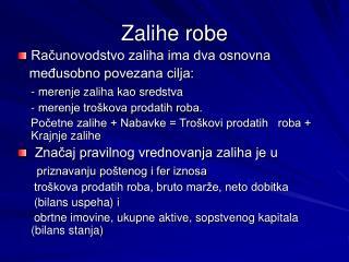 Zalihe robe