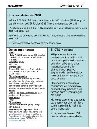 AnticiposCadillac CTS-V