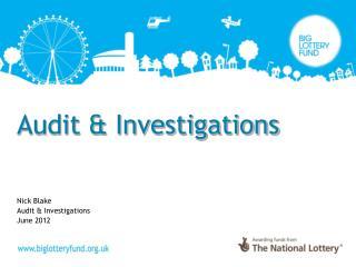 Audit & Investigations