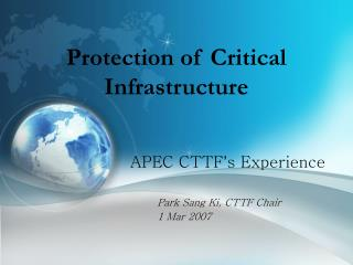 Protection of Critical Infrastructure