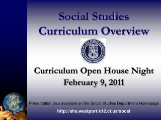 Social Studies  Curriculum Overview
