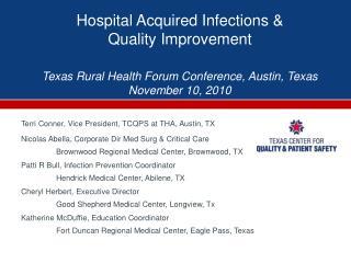 Terri Conner, Vice President, TCQPS at THA, Austin, TX