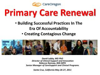Primary Care Renewal