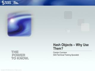 Hash Objects – Why Use Them?