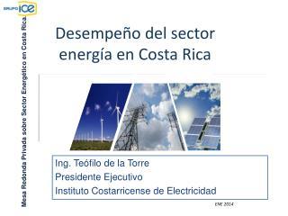 Desempeño del sector energía en Costa Rica
