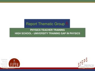 Report Thematic Group 5