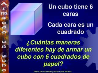 ¿Cuántas maneras  diferentes  hay de armar un cubo con  6  cuadrados  de papel ?