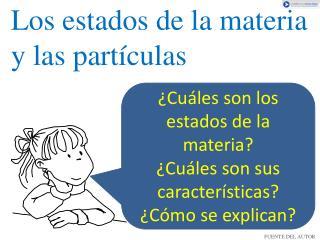 Los estados de la materia y las partículas
