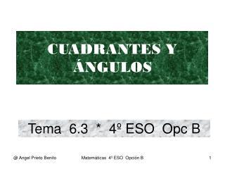Tema  6.3  *  4º ESO  Opc B
