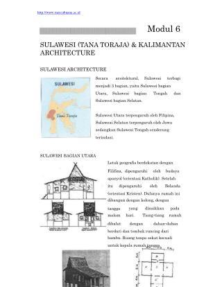mercubuana.ac.id Modul 6 SULAWESI (TANA TORAJA) & KALIMANTAN ARCHITECTURE