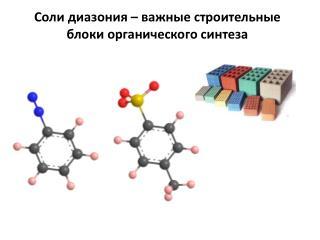 Соли  диазония  – важные строительные блоки органического синтеза
