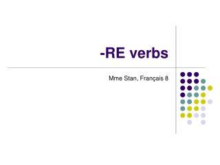 -RE verbs