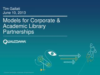 Models for Corporate & Academic Library Partnerships
