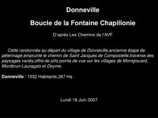 Donneville Boucle de la Fontaine Chapillonie D'après Les Chemins de l'AVF