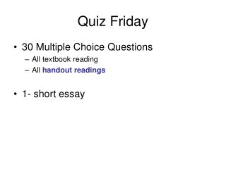 Quiz Friday