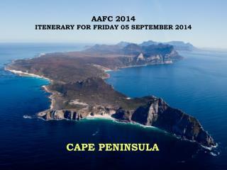 AAFC 2014 ITENERARY FOR FRIDAY 05 SEPTEMBER 2014