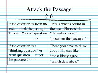 Attack the Passage  2.0