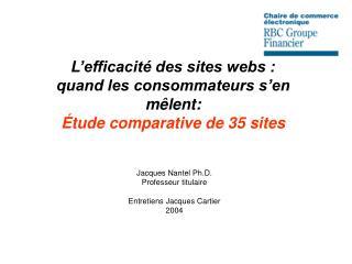 L'efficacité des sites webs : quand les consommateurs s'en mêlent: Étude comparative de 35 sites