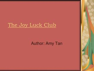 misunderstandings and conflict in the novel the joy luck club by amy tan Page 15 cultural conflict in amy tan's the joy luck club  the four daughters  in this story are the first generation chinese american and their  like jing-mei,  amy tan  miscommunication and misunderstanding increases day by day.