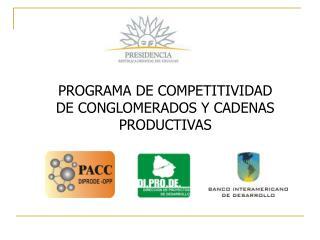 PROGRAMA DE COMPETITIVIDAD DE CONGLOMERADOS Y CADENAS PRODUCTIVAS