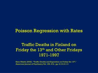 Poisson Regression with Rates