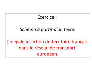 Exercice :  Schéma à partir d'un texte: L'inégale insertion du territoire français