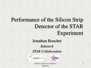 Performance of the Silicon Strip Detector of the STAR Experiment
