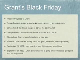 Grant's Black Friday